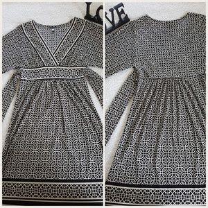 City Triangles Black/Cream Dress w/Tie Back Sz. S